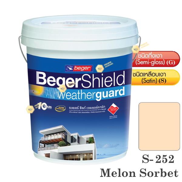 Beger Shield S-252 สีน้ำอะคริลิก-เหลือบเงา-5gl.