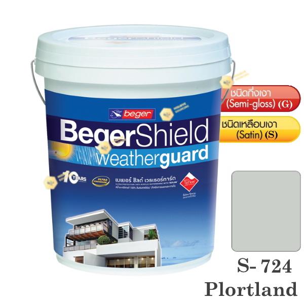 Beger Shield S-724 สีน้ำอะคริลิก-เหลือบเงา-5gl.