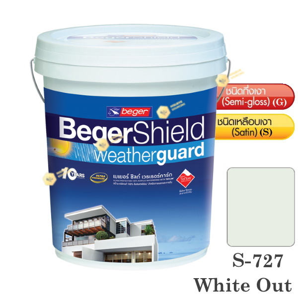 Beger Shield S-727 สีน้ำอะคริลิก-เหลือบเงา-5gl.