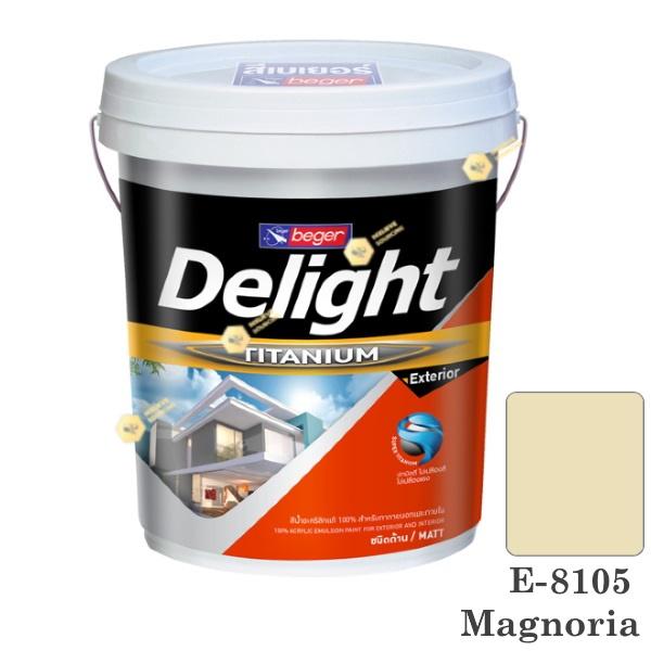 E-8105 Delight beger ดีไลท์ สีน้ำอะคริลิก-ด้าน ภายนอก-5gl.