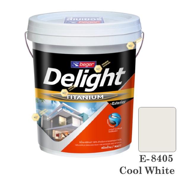 E-8405 Delight beger ดีไลท์ สีน้ำอะคริลิก-ด้าน ภายนอก-5gl.
