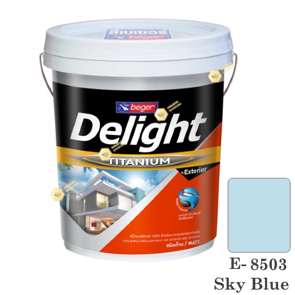 E-8503 Delight beger ดีไลท์ สีน้ำอะคริลิก-ด้าน ภายนอก-5gl.