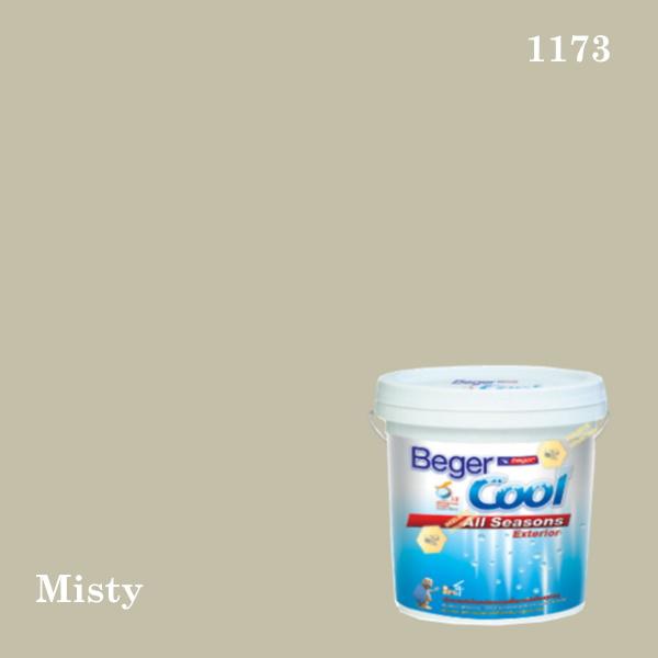 เบเยอร์คูล ออลซีซั่นส์สีน้ำอะครีลิก-ภายนอก 1173 (Misty)