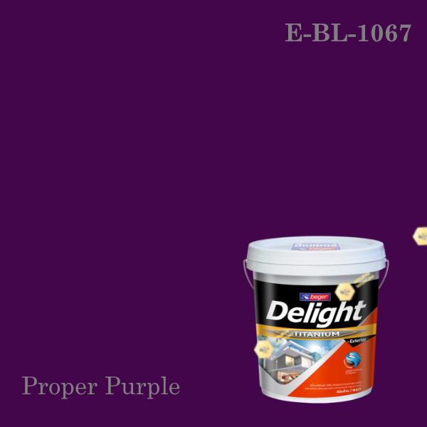 ดีไลท์สีน้ำอะครีลิก ภายนอก E-BL-1067 (Proper Purple)