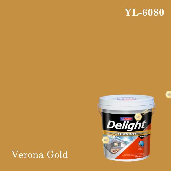 ดีไลท์สีน้ำอะครีลิก ภายนอก YL-6080 (Verona Gold)