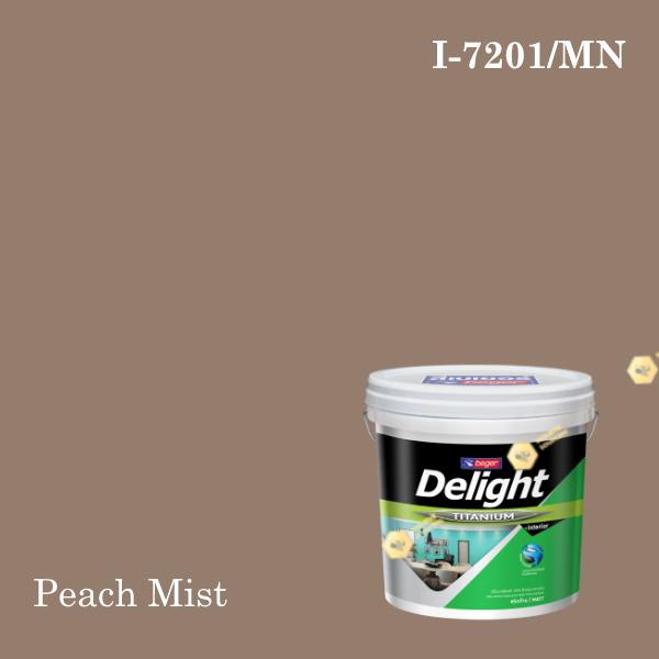 ดีไลท์ พลัสสีน้ำอะครีลิก ภายใน I-7201/MN (Peach Mist)
