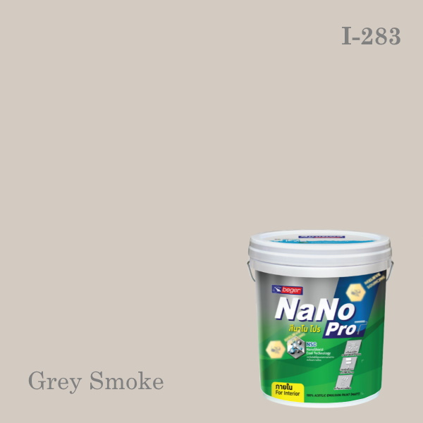 นาโนโปรสีน้ำอะครีลิก ชนิดด้าน I-283 (Grey Smoke)