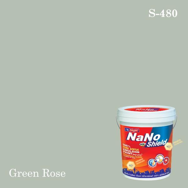 นาโนโปร ชิลด์สีน้ำอะคริลิก ชนิดเนียน S-480 (Green Rose)