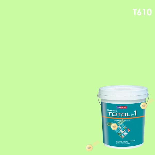 สีน้ำอะครีลิก โทเทิล อิน วัน T610 เบเยอร์ชิลด์ Green Light