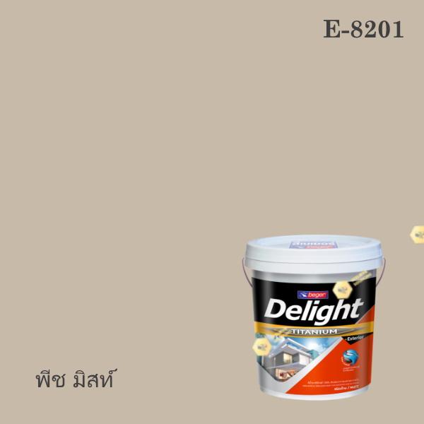ดีไลท์สีน้ำอะครีลิก ภายนอก E-8201 (พีช มิสท์)