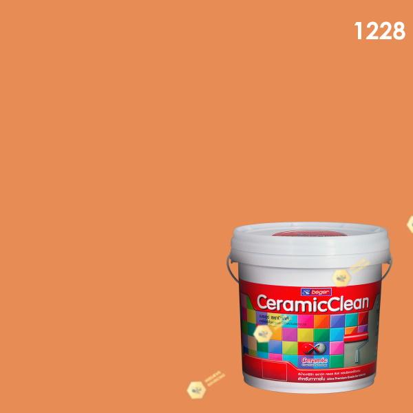 สีน้ำอะครีลิก กึ่งเงา 1228 เบเยอร์เซรามิก คลีน (Orange You Glad)