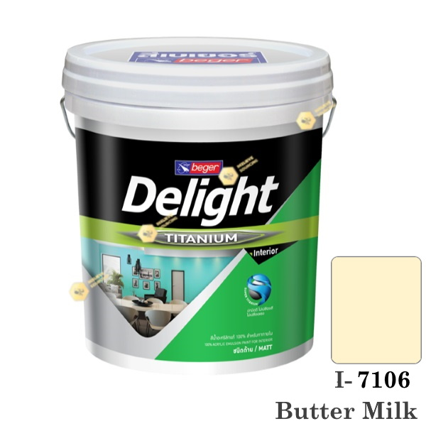I-7106 Delight beger ดีไลท์ สีน้ำอะคริลิก-ด้าน ภายใน-5gl.