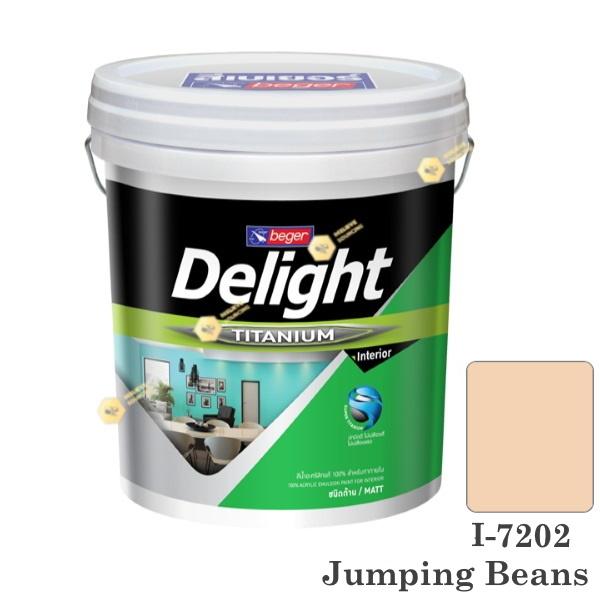 I-7202 Delight beger ดีไลท์ สีน้ำอะคริลิก-ด้าน ภายใน-5gl.