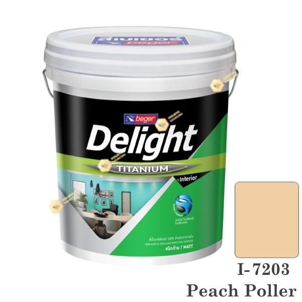 I-7203 Delight beger ดีไลท์ สีน้ำอะคริลิก-ด้าน ภายใน-5gl.