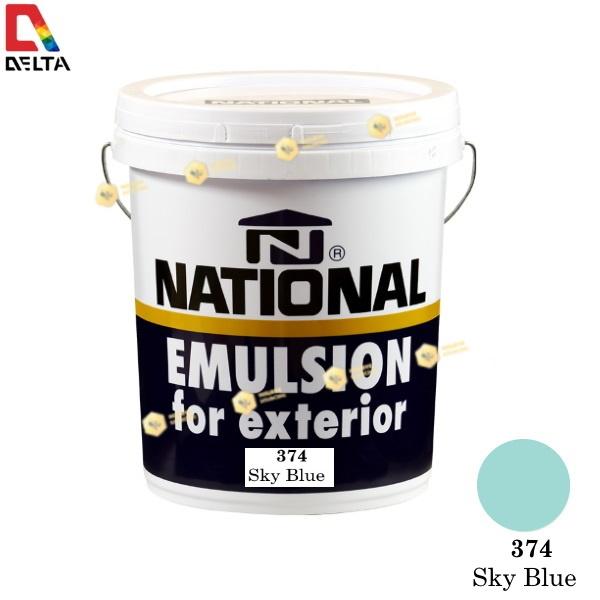 NATIONAL สีน้ำอะครีลิค ภายนอก 374 Sky Blue-5GL.