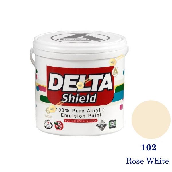 Delta Shield สีน้ำอะครีลิค 102 Rose White-1gl.