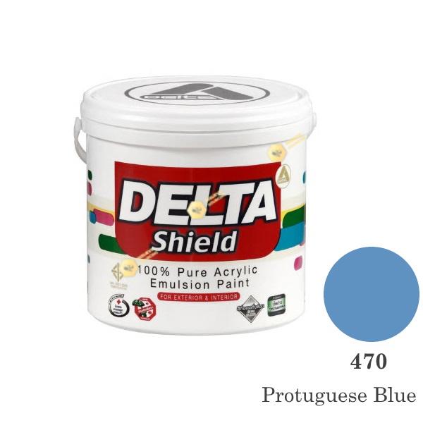 Delta Shield สีน้ำอะครีลิค 470 Protuguese Blue-1gl.