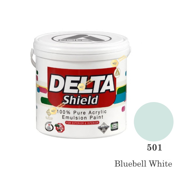Delta Shield สีน้ำอะครีลิค 501 Bluebell White-1gl.