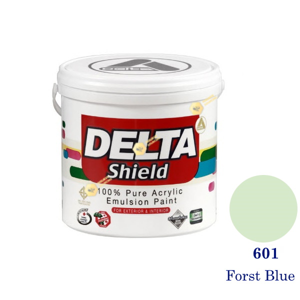 Delta Shield สีน้ำอะครีลิค 601 Forst Blue-1gl.