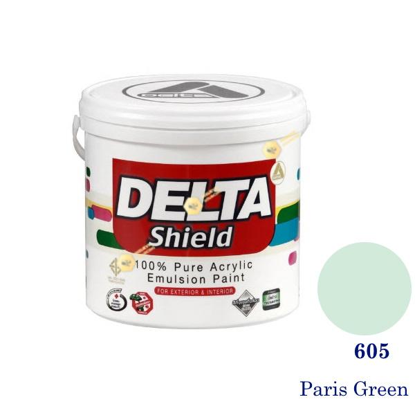 Delta Shield สีน้ำอะครีลิค 605 Paris Green-1gl.