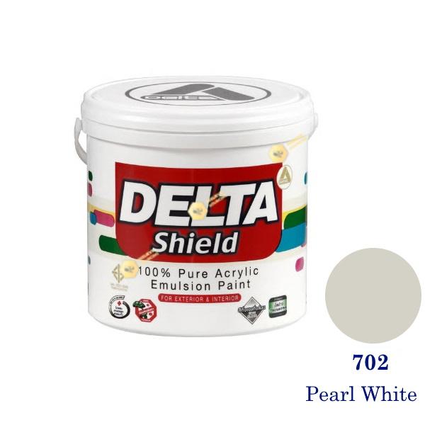 Delta Shield สีน้ำอะครีลิค 702 Pearl White-1gl.