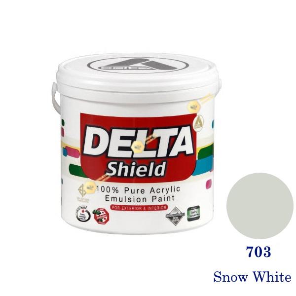 Delta Shield สีน้ำอะครีลิค 703 Snow White-1gl.