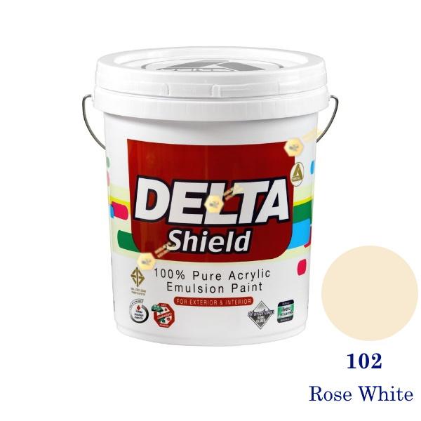 Delta Shield สีน้ำอะครีลิค 102 Rose White-5gl.