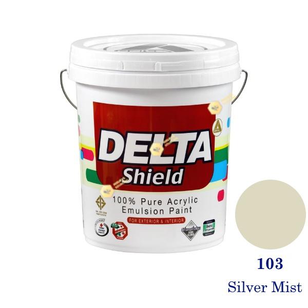 Delta Shield สีน้ำอะครีลิค 103 Silver Mist-5gl.