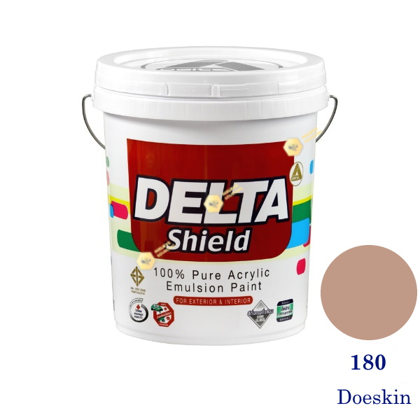 Delta Shield สีน้ำอะครีลิค 180 Doeskin-5gl.