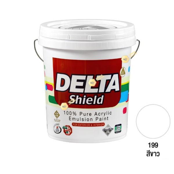 Delta Shield สีน้ำอะครีลิค 199 White-5gl.
