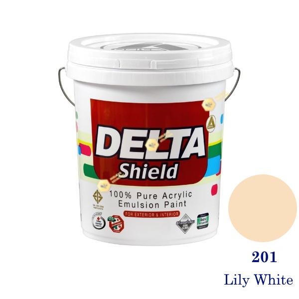 Delta Shield สีน้ำอะครีลิค 201 Lily White-5gl.