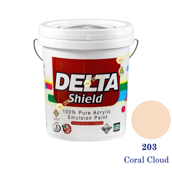 Delta Shield สีน้ำอะครีลิค 203 Coral Cloud-5gl.