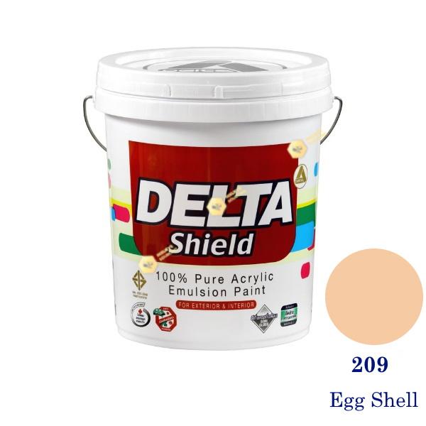 Delta Shield สีน้ำอะครีลิค 209 Egg Shell-5gl.