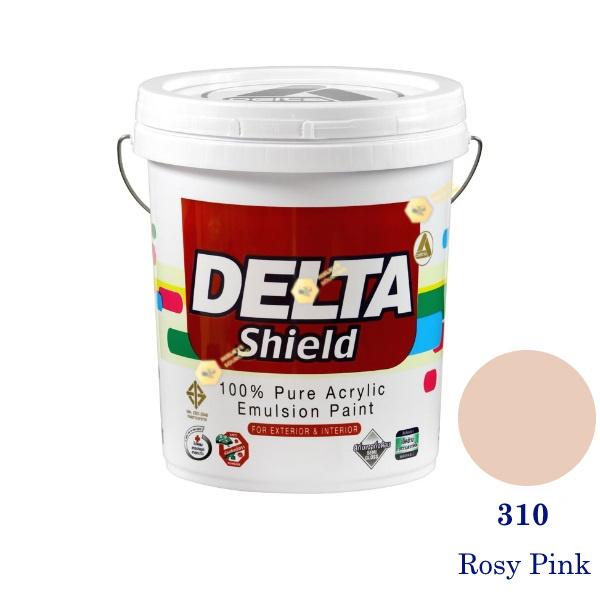 Delta Shield สีน้ำอะครีลิค 310 Rosy Pink-5gl.