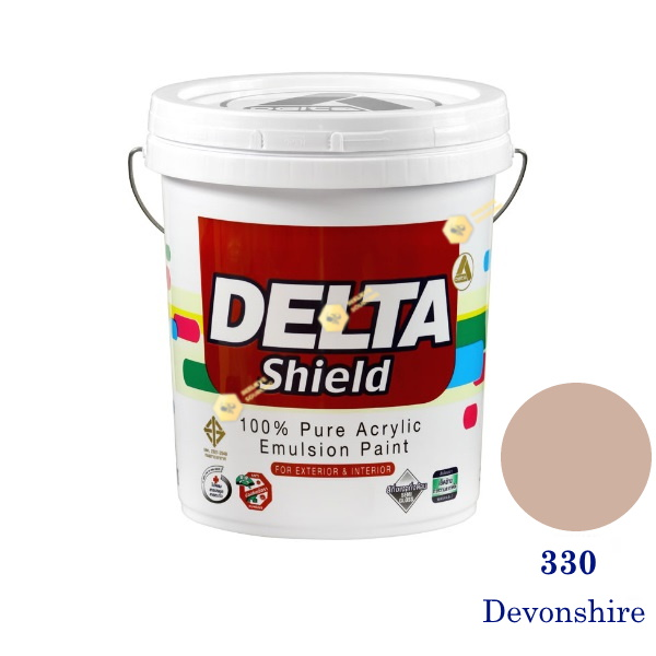 Delta Shield สีน้ำอะครีลิค 330 Devonshire-5gl.