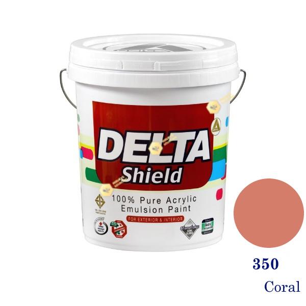 Delta Shield สีน้ำอะครีลิค 350 Coral-5gl.