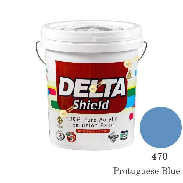 Delta Shield สีน้ำอะครีลิค 470 Protuguese Blue-5gl.