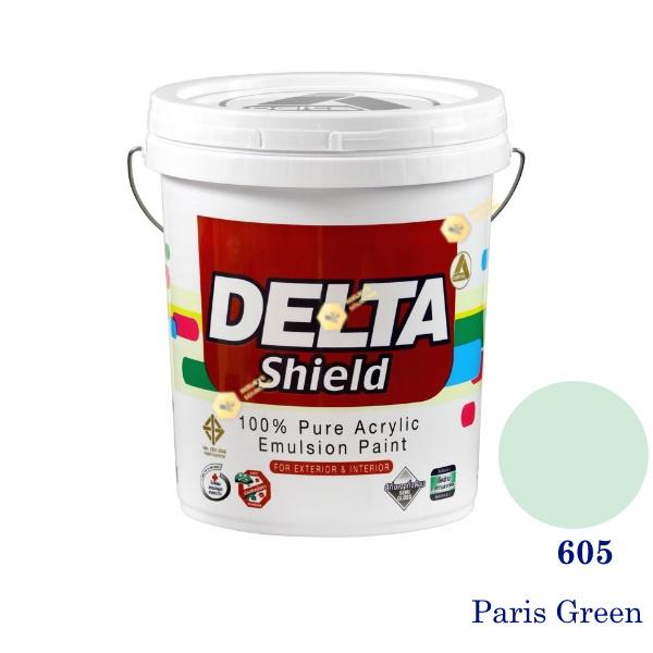 Delta Shield สีน้ำอะครีลิค 605 Paris Green-5gl.