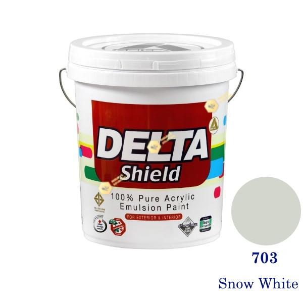Delta Shield สีน้ำอะครีลิค 703 Snow White-5gl.