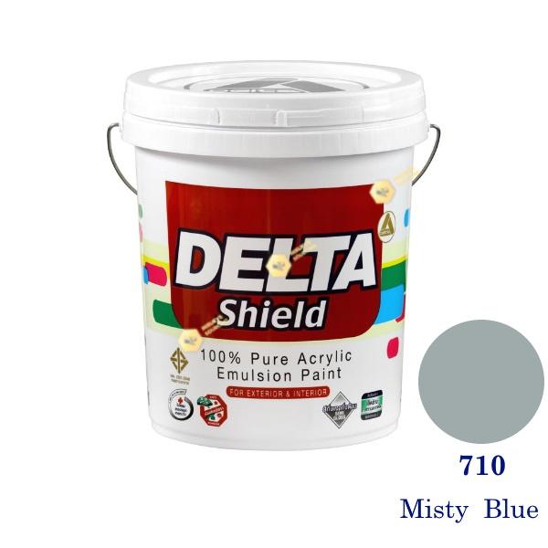 Delta Shield สีน้ำอะครีลิค 710 Misty Blue-5gl.