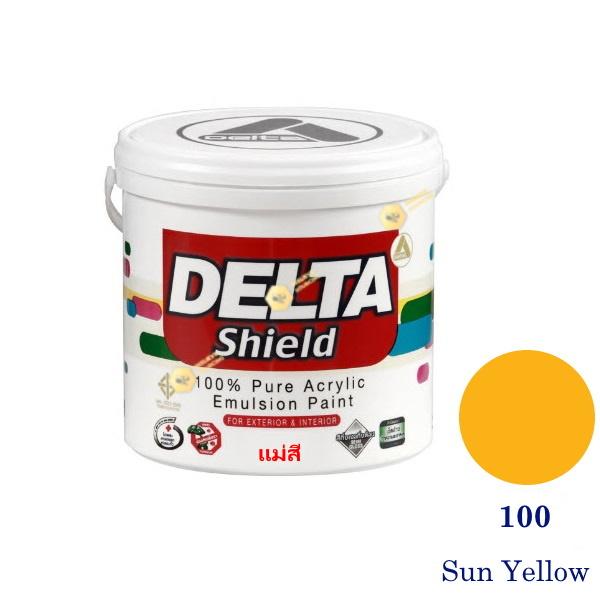 Delta Shield แม่สีน้ำอะครีลิค 100 Sun Yellow-1gl.