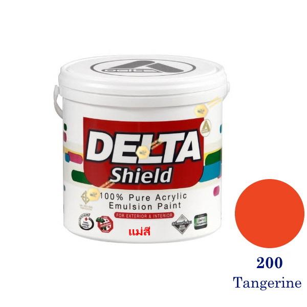 Delta Shield แม่สีน้ำอะครีลิค 200 Tangerine-1gl.