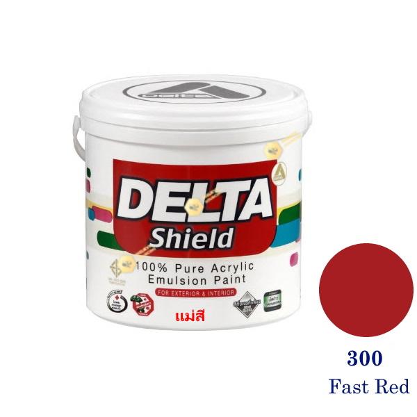 Delta Shield แม่สีน้ำอะครีลิค 300 Fast Red-1gl.