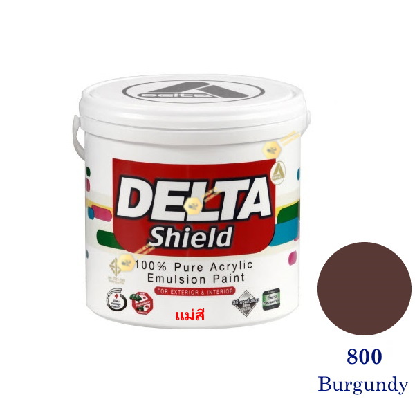 Delta Shield แม่สีน้ำอะครีลิค 800 Burgundy-1gl.