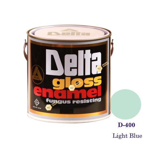 DELAT GLOSS ENAMEL สีเคลือบน้ำมัน D-400 Light Blue