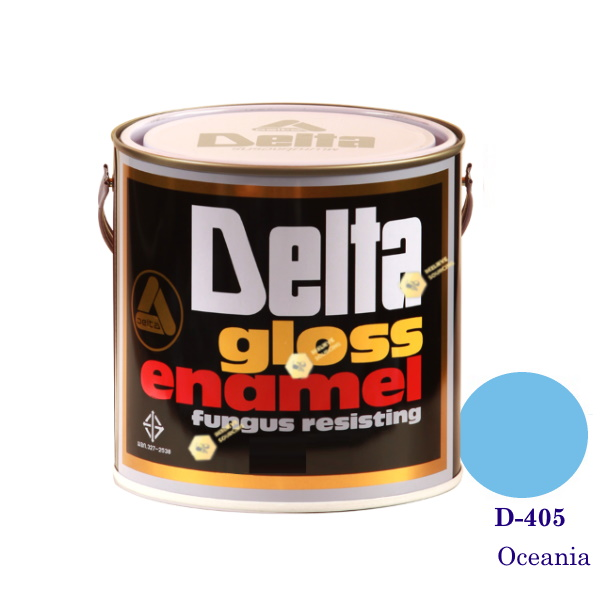 DELAT GLOSS ENAMEL สีเคลือบน้ำมัน D-405 Oceania