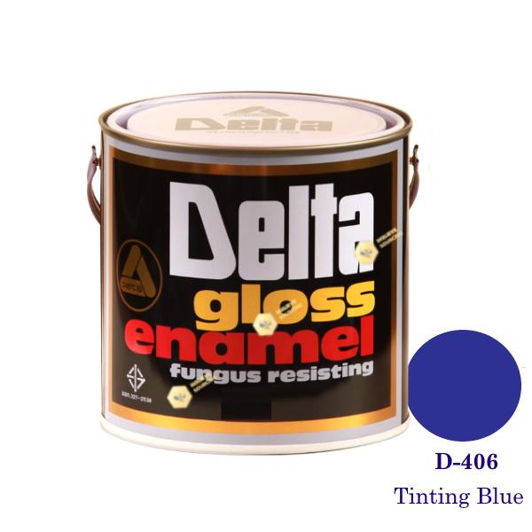 DELAT GLOSS ENAMEL สีเคลือบน้ำมัน D-406 Tinting Blue