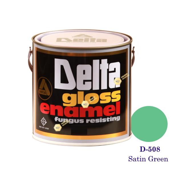 DELAT GLOSS ENAMEL สีเคลือบน้ำมัน D-508 Satin Green