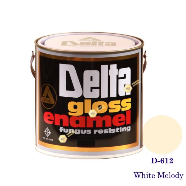 DELAT GLOSS ENAMEL สีเคลือบน้ำมัน D-612 White Melody