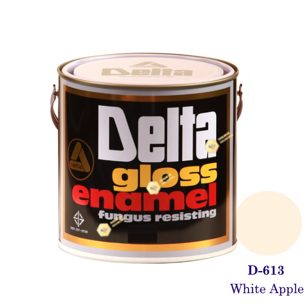 DELAT GLOSS ENAMEL สีเคลือบน้ำมัน D-613 White Apple